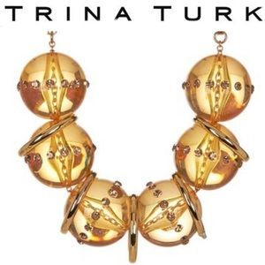 Trina Turk Beaded Frontal Necklace